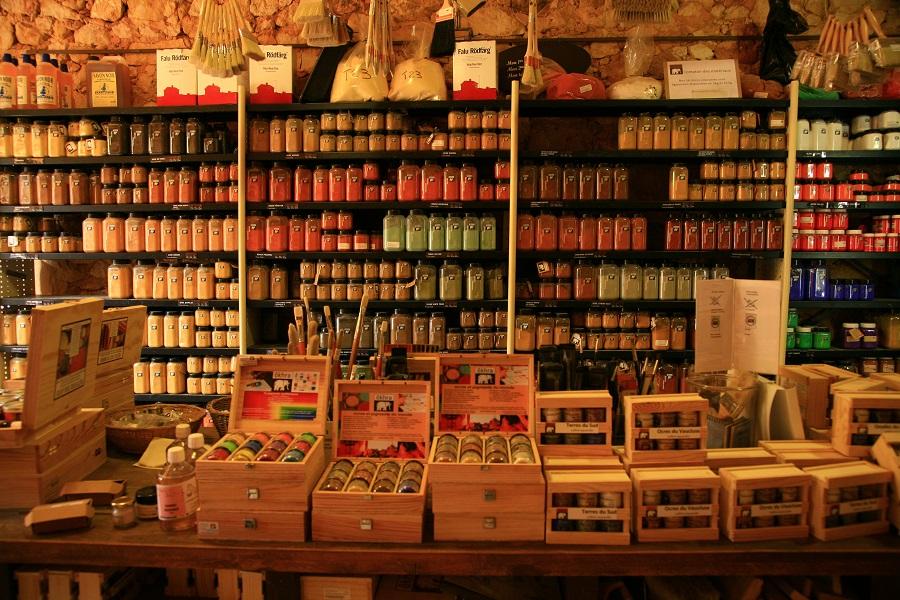 Les ocres de Provence utilisées par les peintres