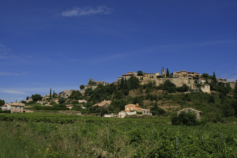 Le village de Faucon dans le Vaucluse