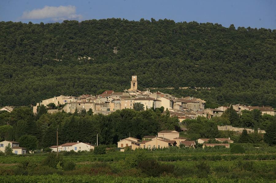 Le village de Sablet dans le Vaucluse