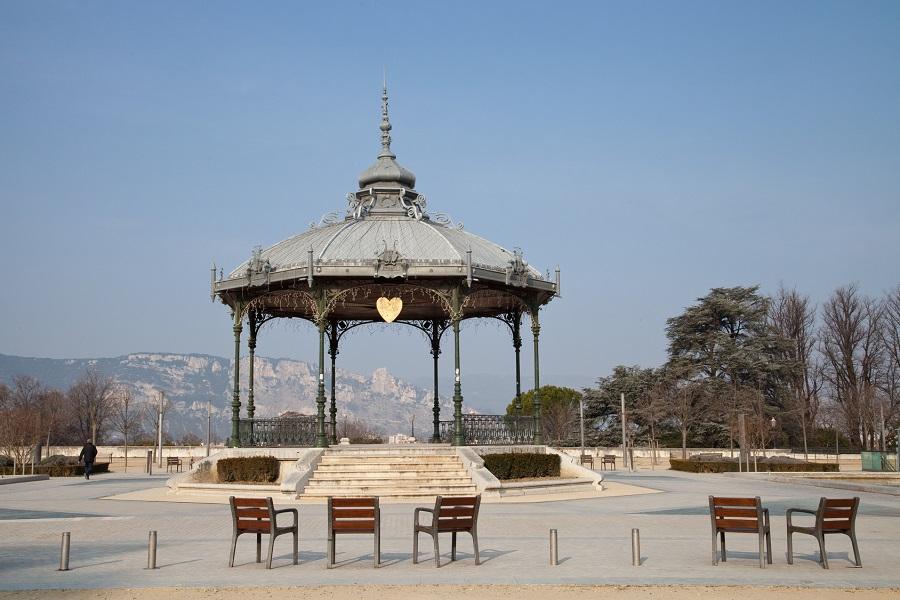 L'esplanade du Champ de Mars à Valence