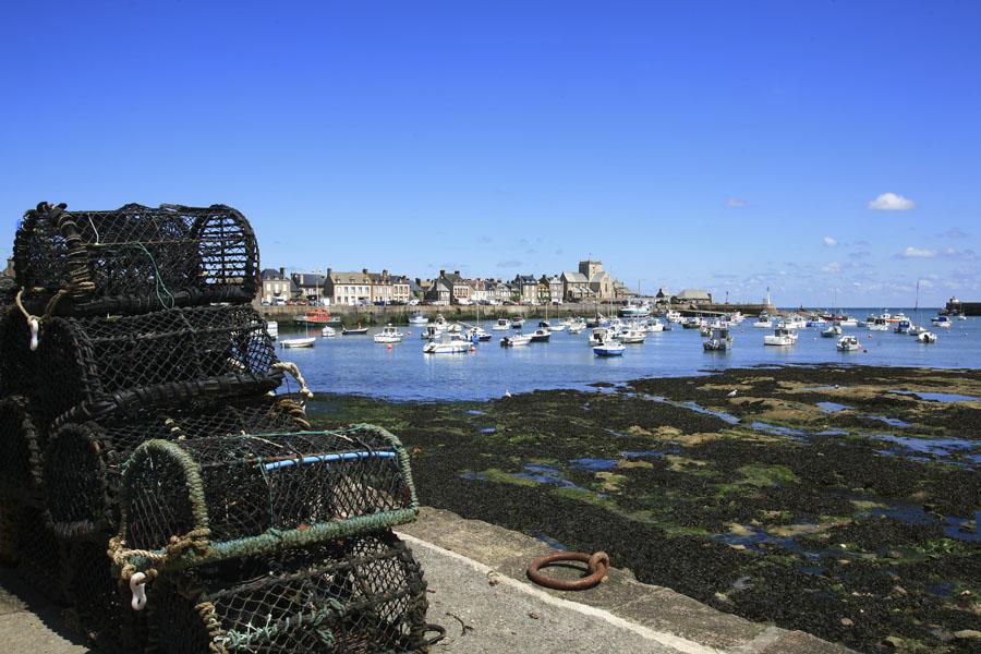 Paniers de crustacés à Barfleur