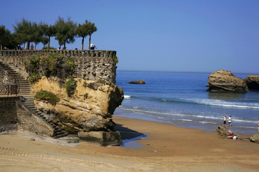La Grande Plage, site emblématique de Biarritz