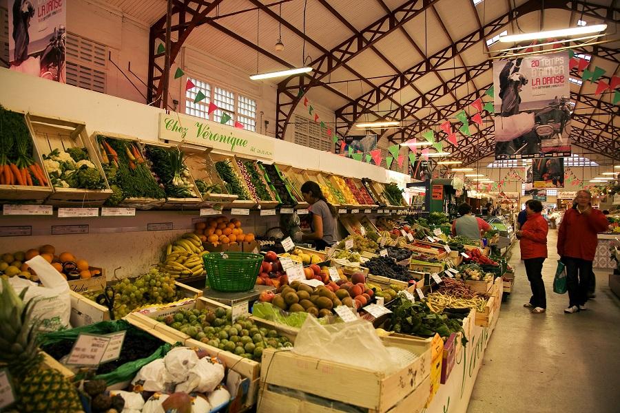 Le marché couvert de Biarritz