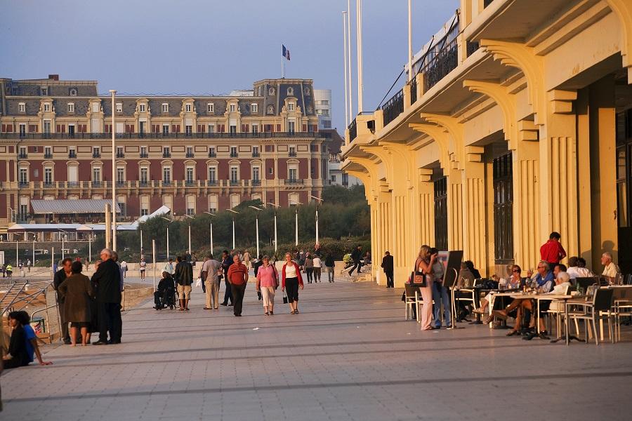 L'hôtel du Palais et le casino de Biarritz