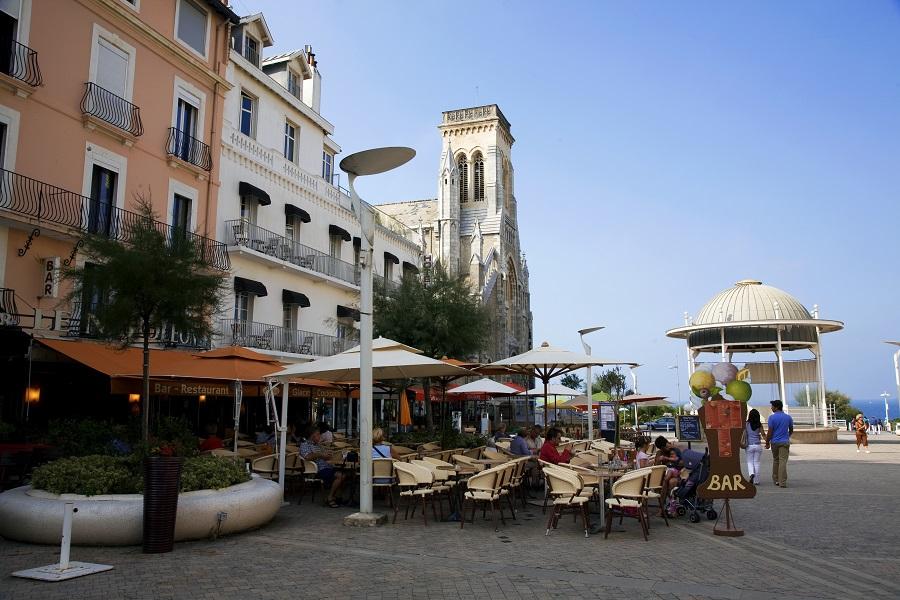 La place Eugénie à Biarritz