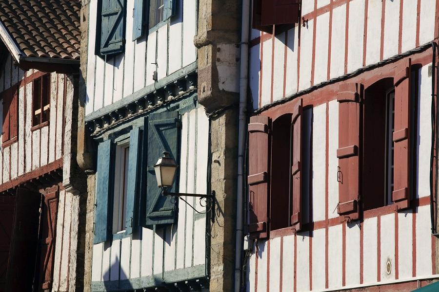 Maisons à pans de bois à Espelette
