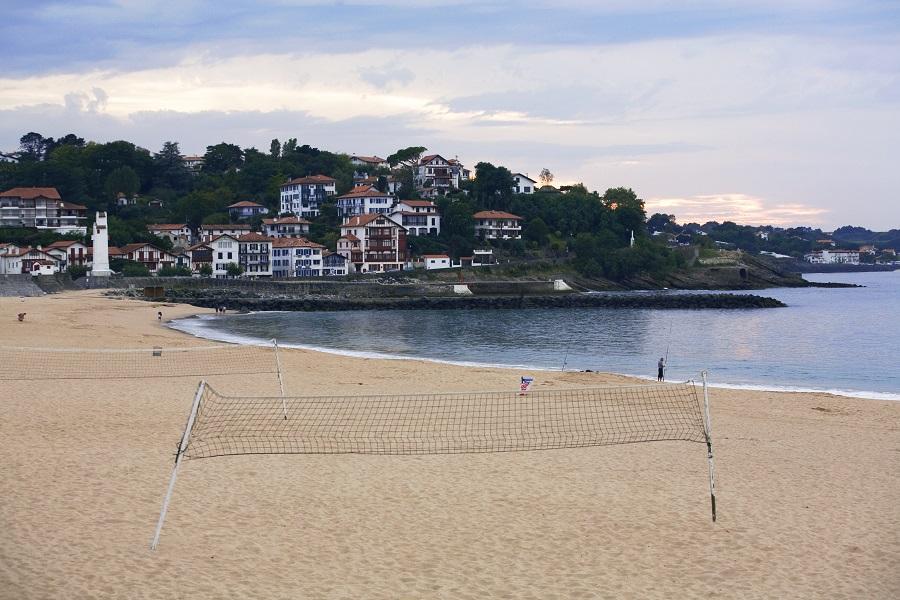 La longue plage de Saint-Jean-de-Luz