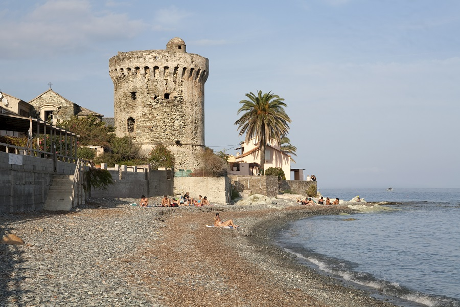 La plage de Miomo sur le Cap Corse