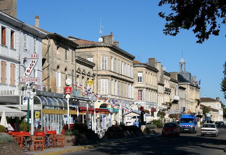 La ville de Pauillac en Gironde