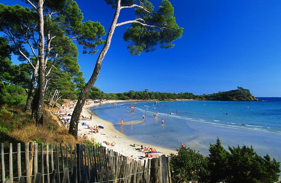 La plage de l'Estagnol à Bormes-les-Mimosas