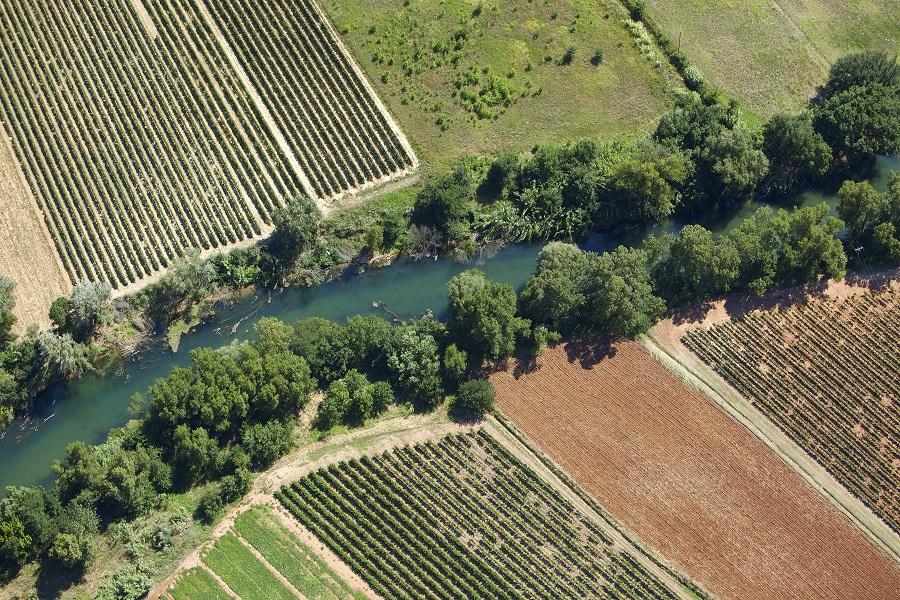 La rivière de l'Argens aux Arcs-sur-Argens