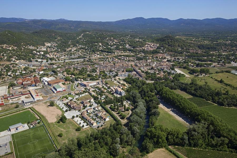 Vidauban dans la vallée de l'Argens