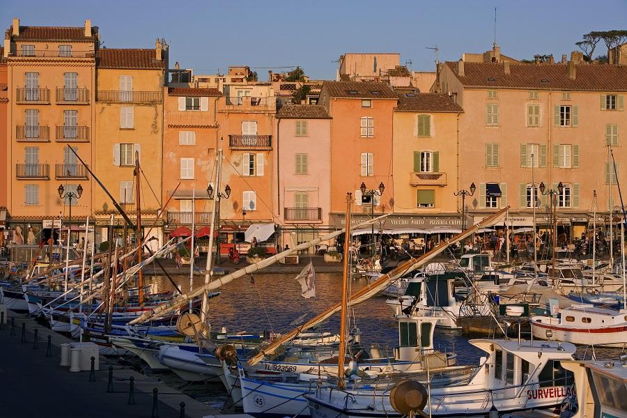 Le joli village de Saint-Tropez
