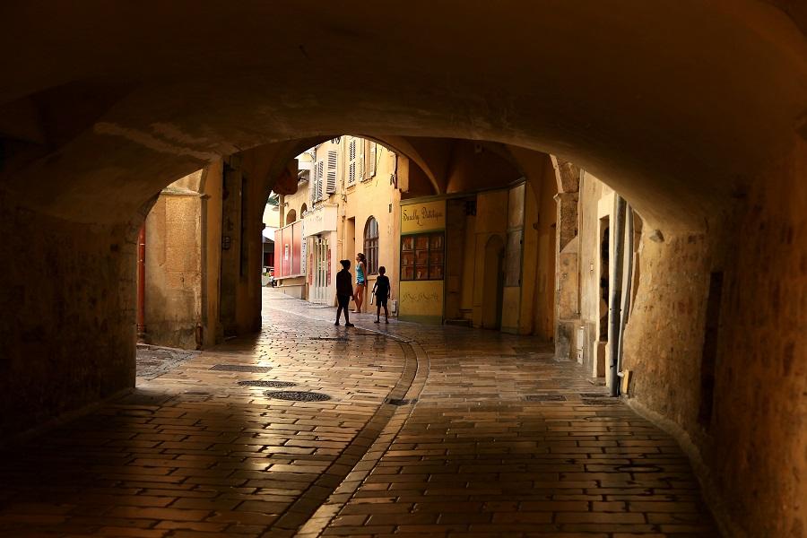 Les rues piétonnes d'Hyères