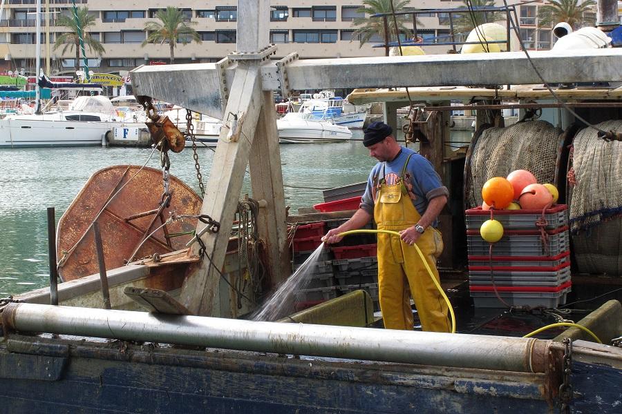 Bateau de pêche à Saint-Cyprien
