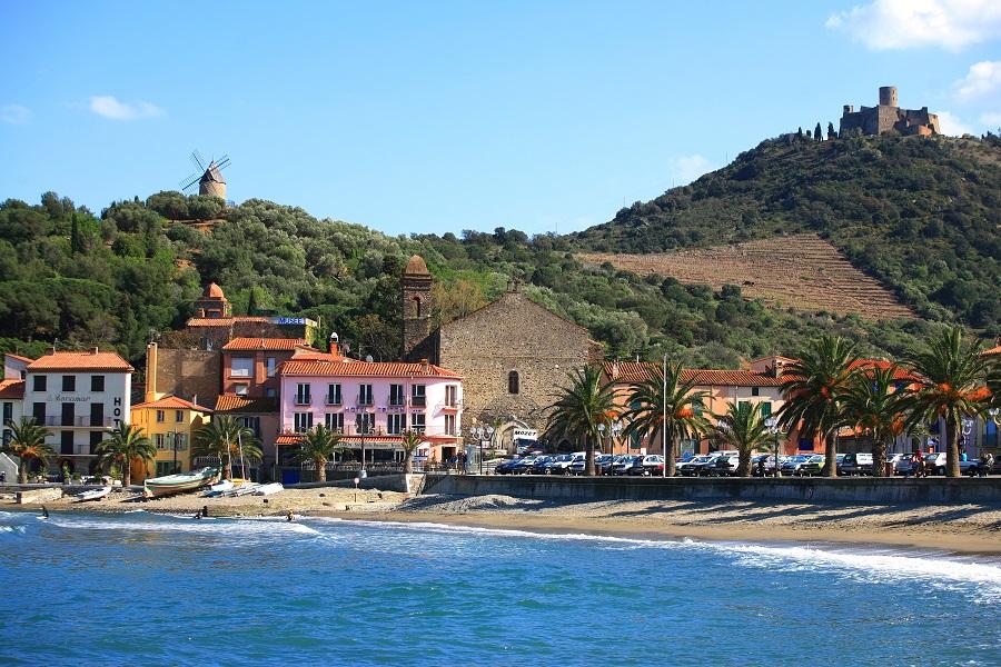 Collioure, paysage de carte postale