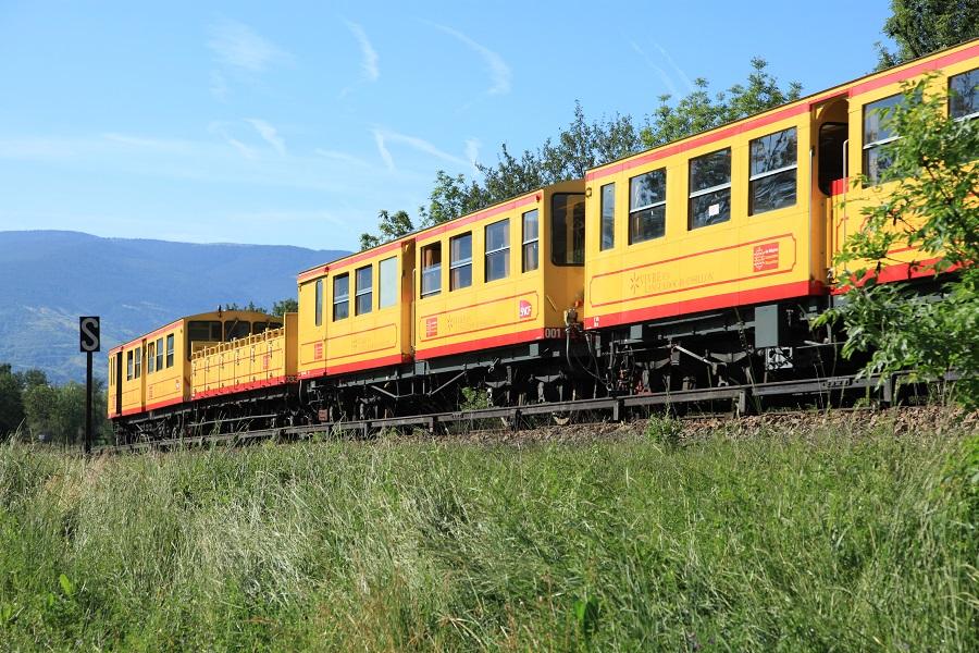 Le train jaune de Cerdagne surnommé le canari