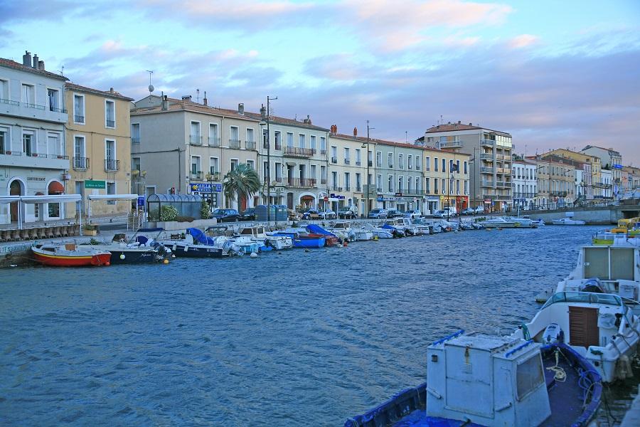 La jolie ville de Sète traversée par ses canaux