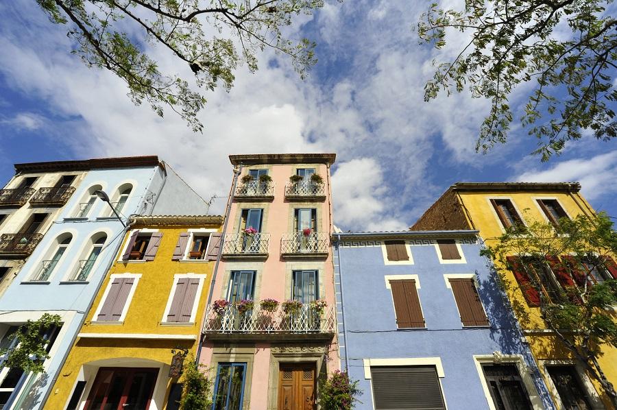 Les maisons colorées de Leucate