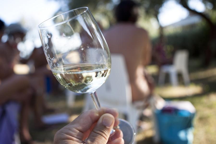 Dégustation de vin au camping naturiste