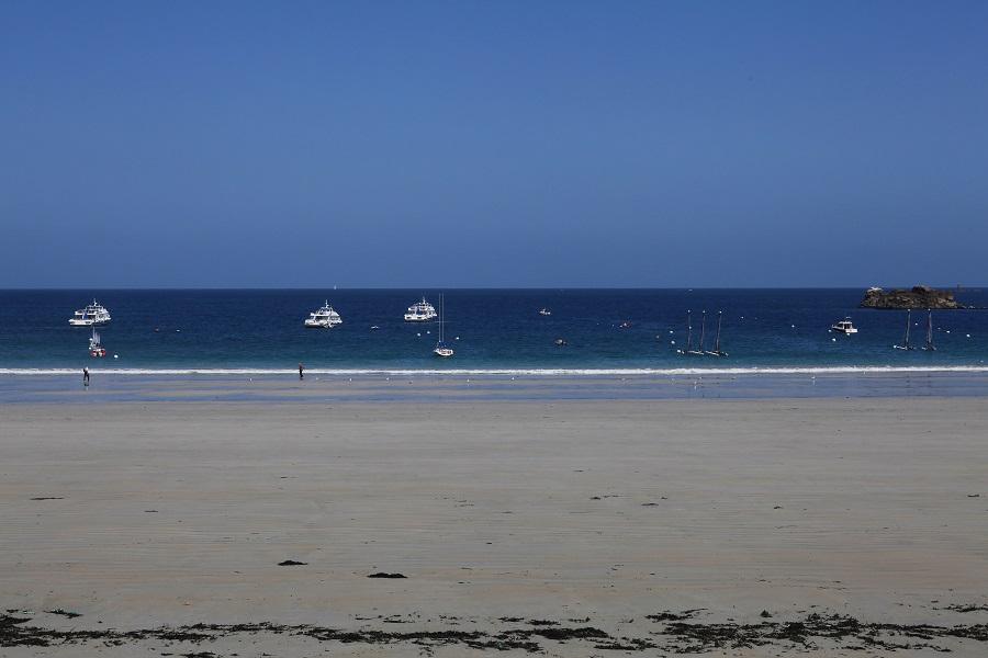 Sur la plage de Perros-Guirec