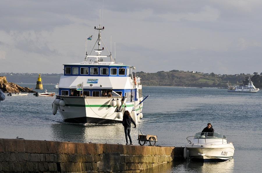 Arrivée sur l'île de Bréhat