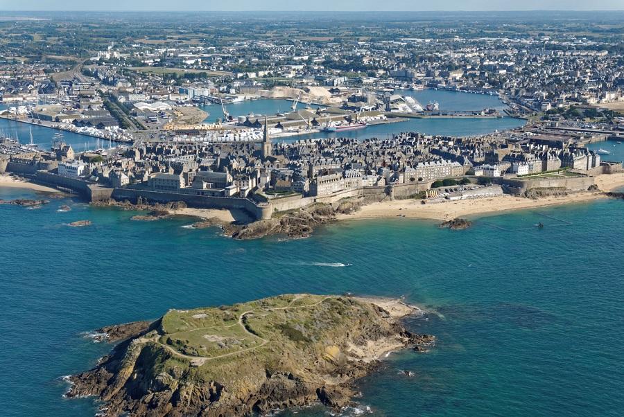 Saint-Malo vue du ciel