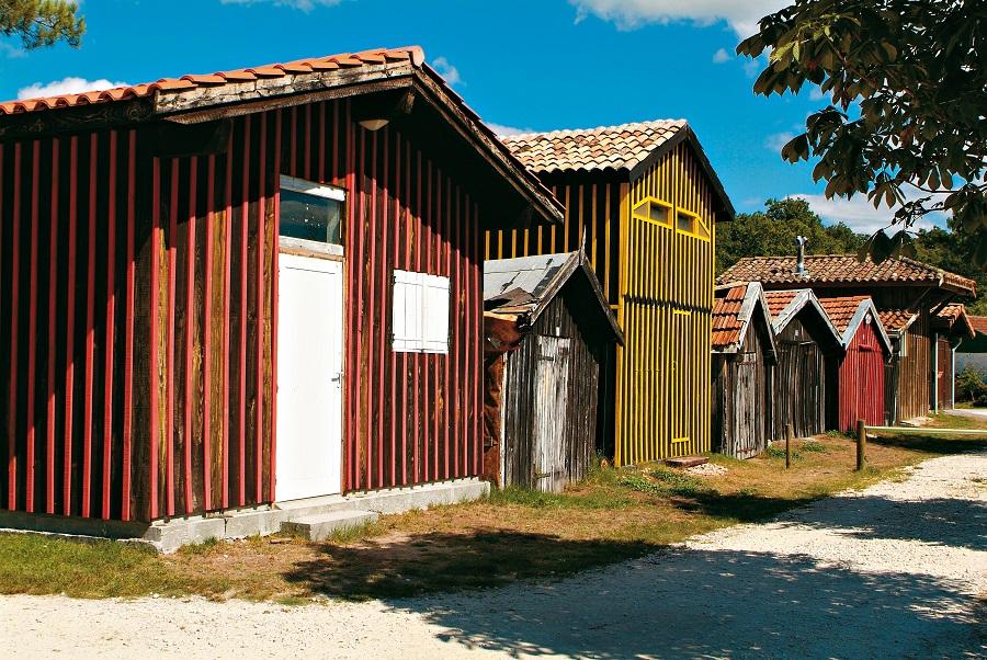 Cabanes de pêcheurs à Biganos