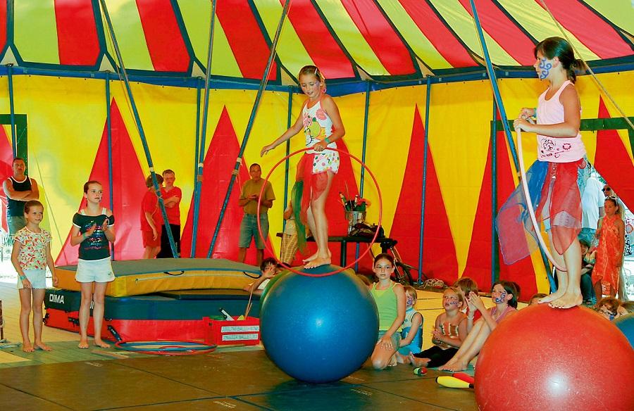 L'école du cirque au camping
