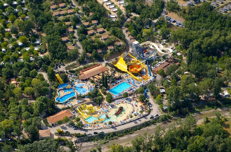 Aquapark du Domaine Le Pommier en Ardèche
