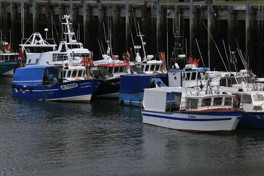 Dans le port de Boulogne-sur-Mer