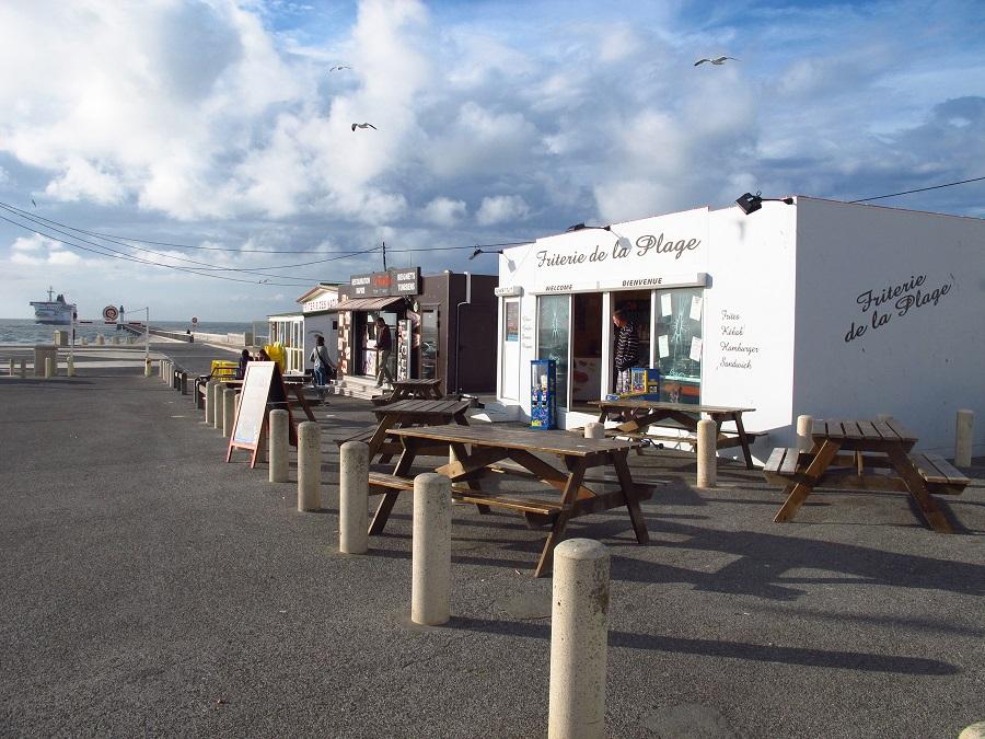 Friteries sur le front de mer de Calais