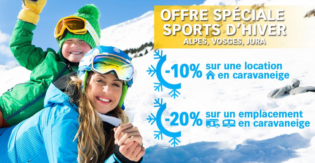 Offre spéciale caravaneiges Alpes Vosges Jura