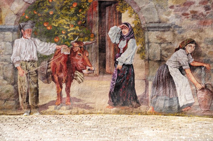 Peinture en trompe-l'œil à Sennariolo