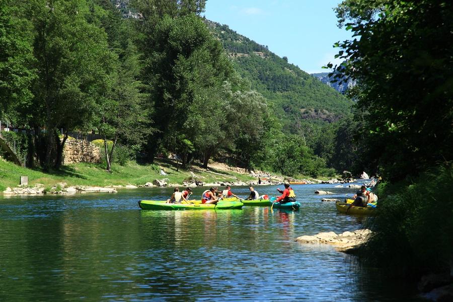 Canoë-kayak sur les gorges du Tarn