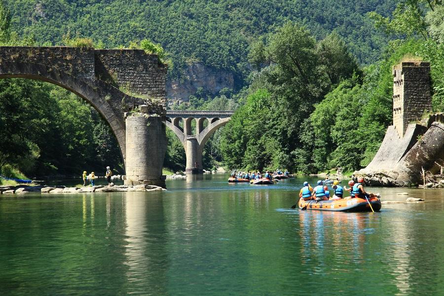 Rafting sur les gorges du Tarn