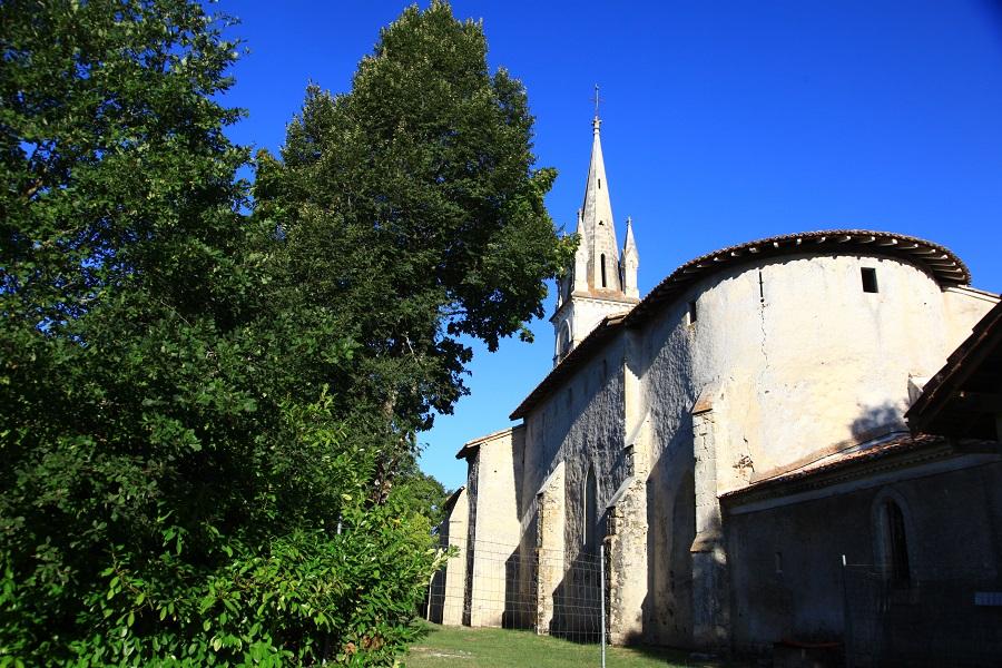 L'église de Commensacq