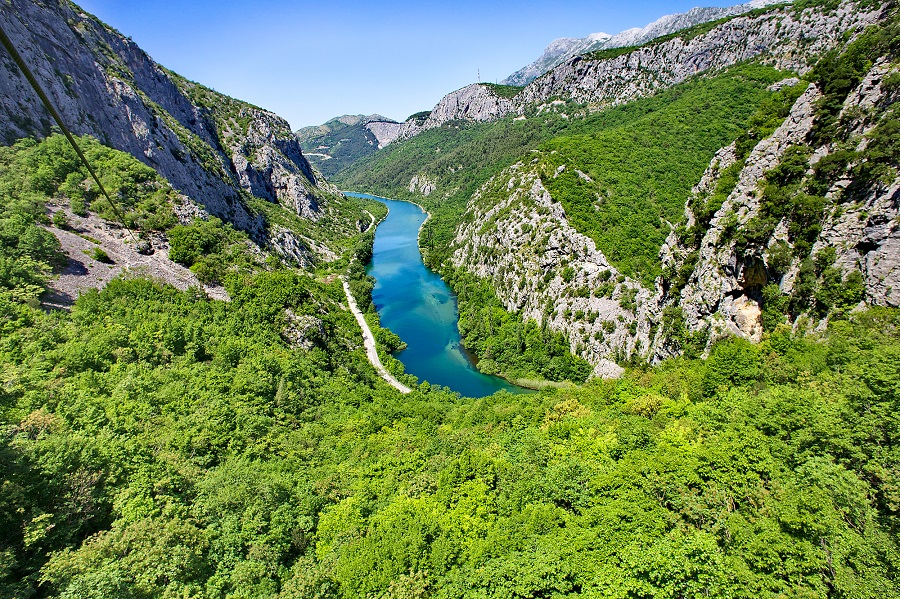 Canyon de la rivière Cetina