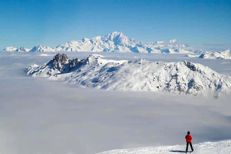 Ski dans le massif du Mont-Blanc