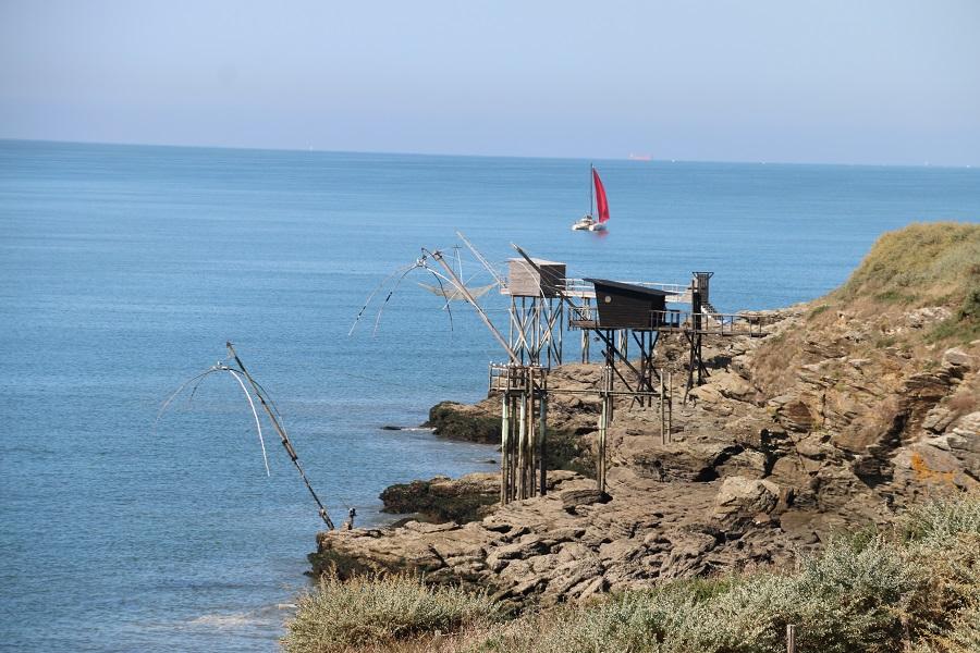 Cabanes de pêche à carrelets