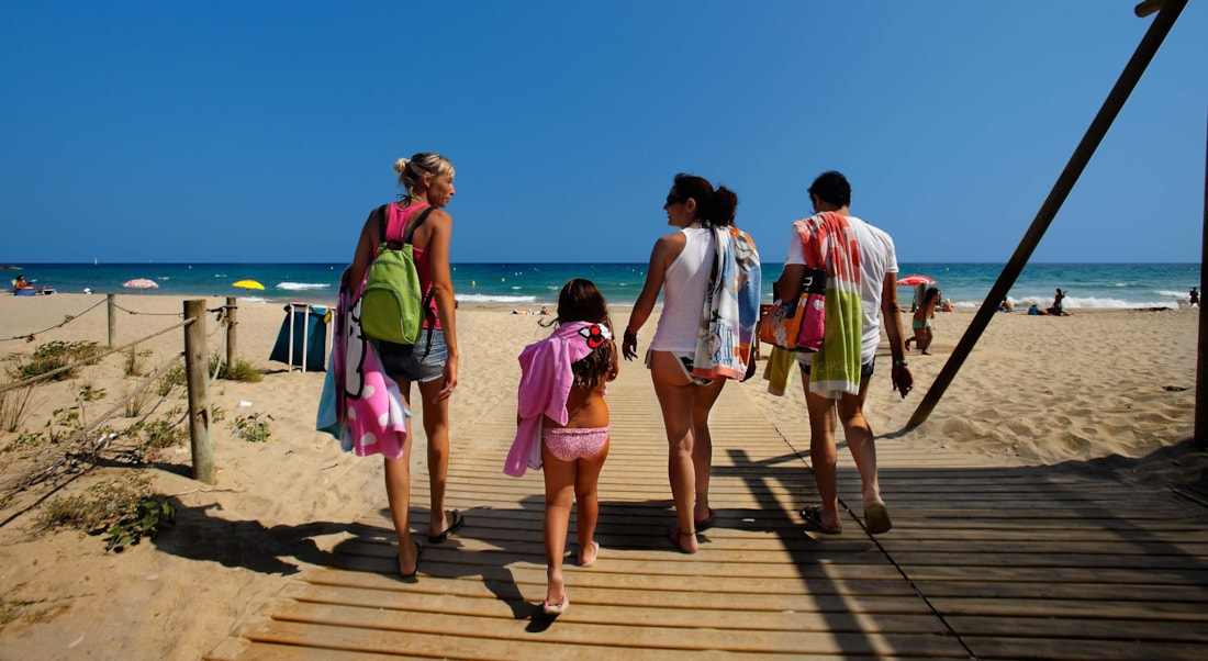 camping playa | bungalows a pie de playa