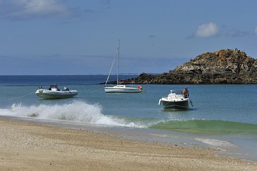 La plage de Treac'h ar Goured sur l'île d'Houat