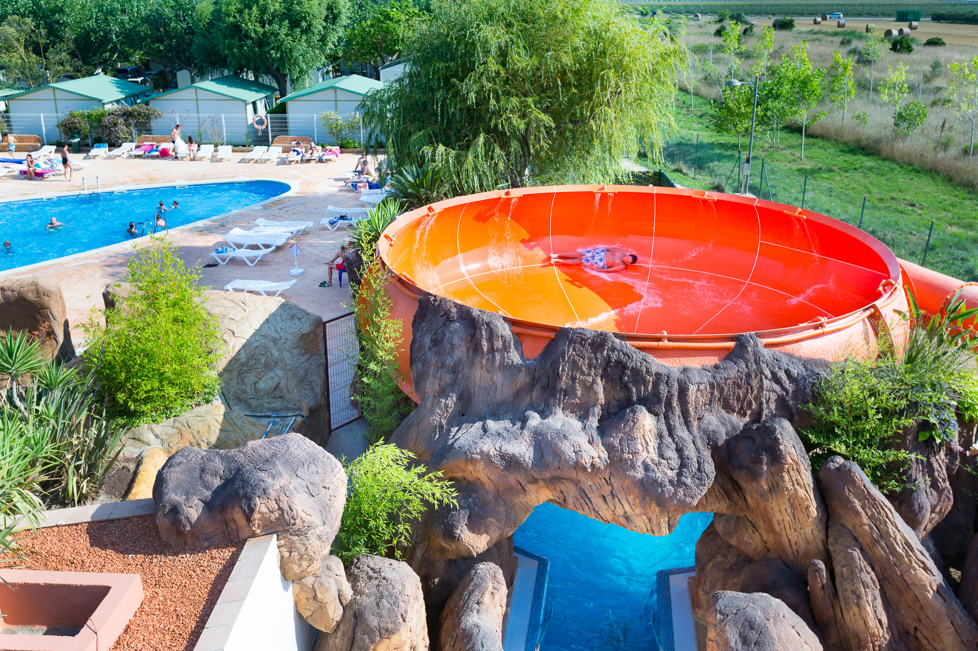 the water slides of camping amfora your campsite in catalonia