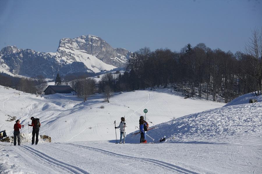 Ski de fond à Plaine-Joux