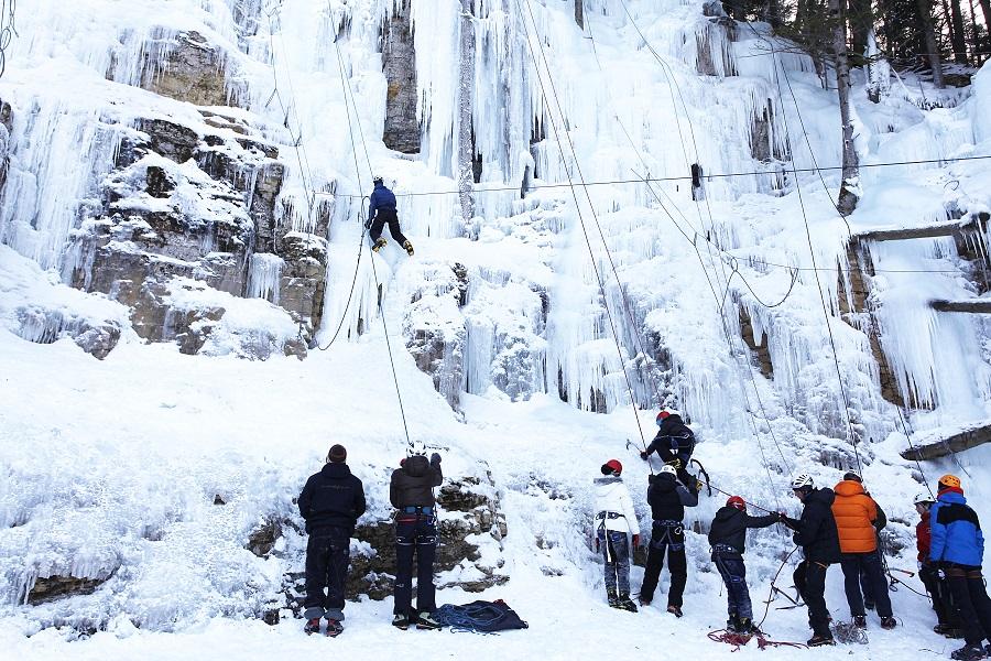 Escalade sur glace à Lans-en-Vercors