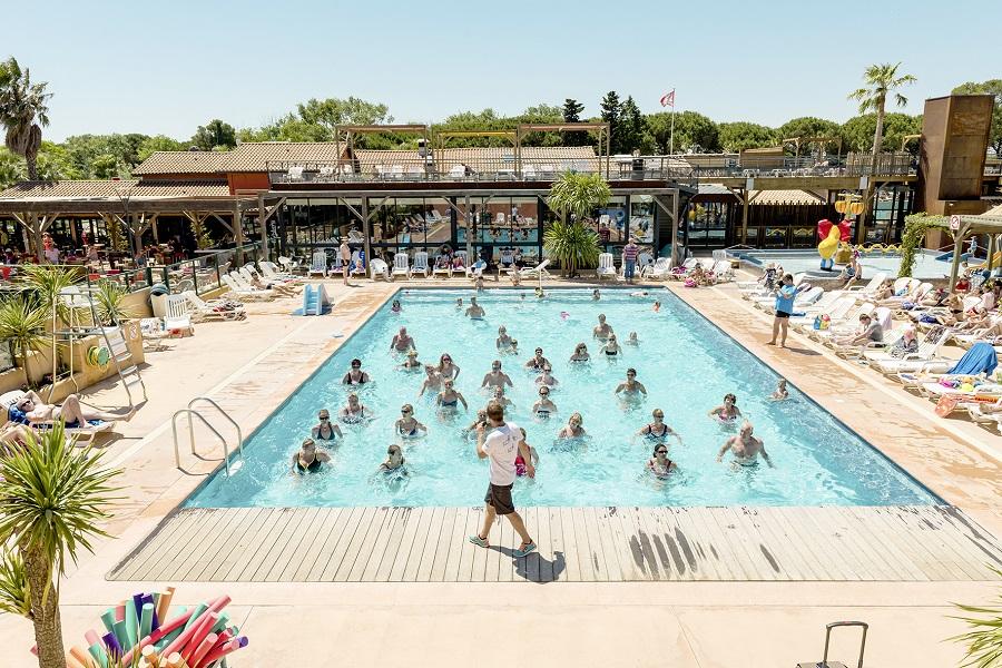 Aquagym dans la piscine du camping Les Sablons