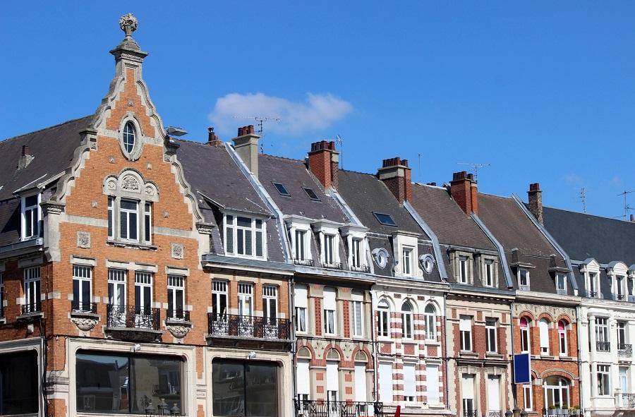 Maisons typiques du Nord à Cambrai