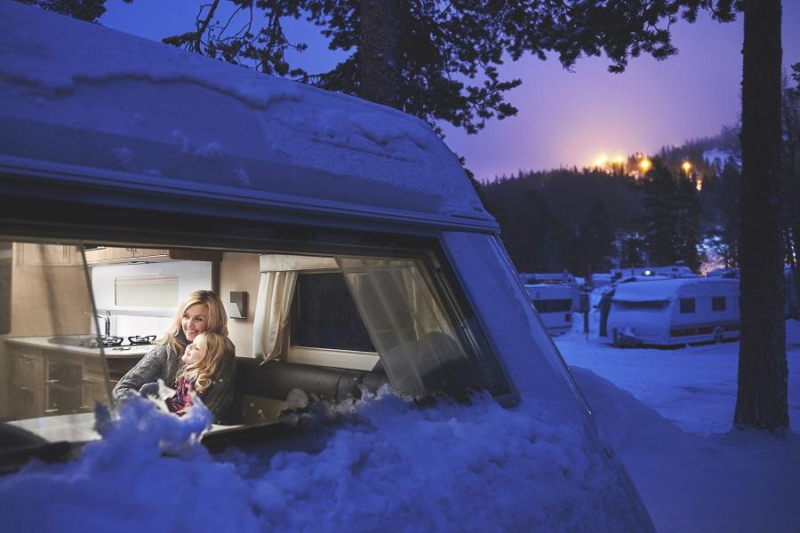 Le caravaneige, séjour économique aux sports d'hiver