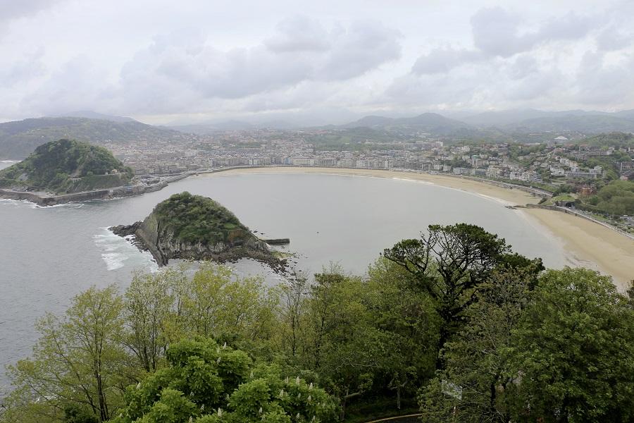 Vue sur San Sebastian depuis le Monte Igueldo