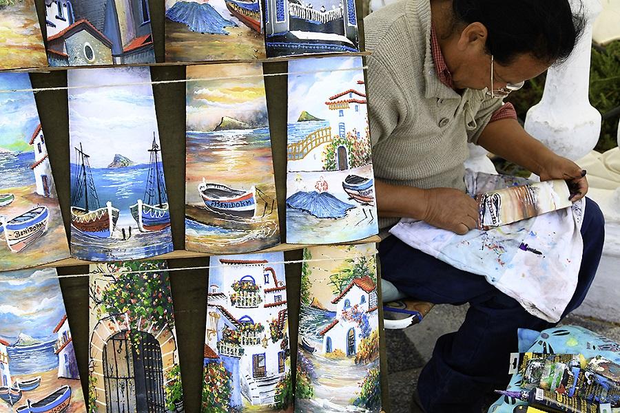 Tuiles peintes à Benidorm